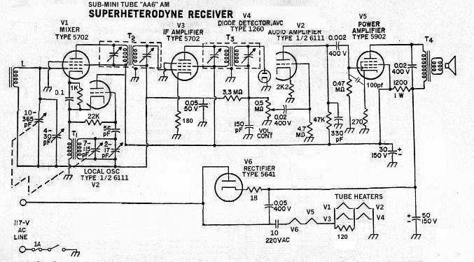 5 Tube Radio Schematic For A 10 Mva Transformer Schematic
